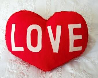 Love pillow. Valentine's gift.