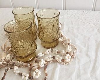 Set Of Three Small Vintage Drinking Glasses