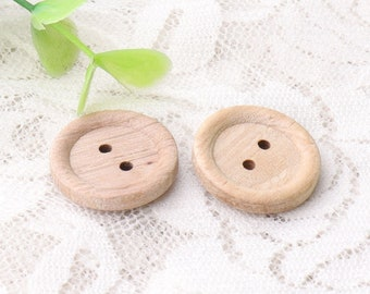 wooden buttons 10pcs 19mm in diameter 2 holes wood buttons light brown round wood buttons craft buttons
