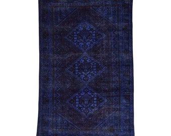 """6'6""""x10'1"""" Hand-Knotted Overdyed Shiraz 100 Percent Wool Oriental Rug"""