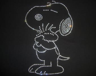 Snoopy And Woodstock Rhinestone T-shirt