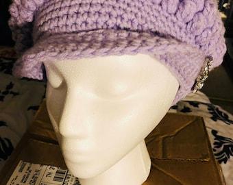 Purple Brimmed Hat