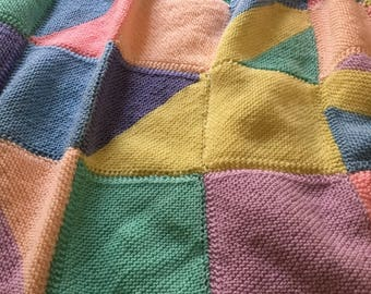 Small Bed Hand Knitted Blanket
