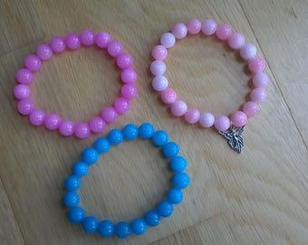 Agate stretchy bracelets