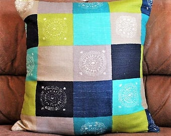 Aztec Inspired Square Cushion