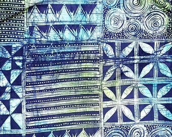 5 Yards Adire Batik Fabric