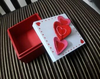 Heart hand painted box