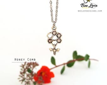 BEE LOVE HONEYCOMB Necklace