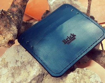 Business and Credit Card Holder - Handmade - Leather
