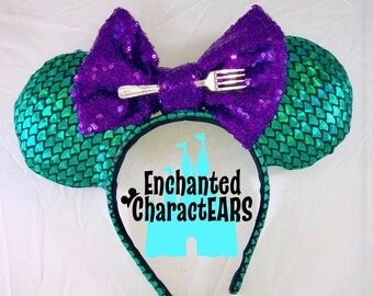 Ariel Ears Little Mermaid Ears Custom Minnie Mouse Ears
