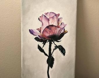 Acrylic Rose Painting