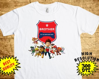 Paw Patrol Brother, Paw Patrol Iron On Transfer, Paw Patrol Printable DIY Shirt Transfer, Digital Files, Instant Download