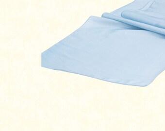 Taffeta Table Runner - Baby Blue
