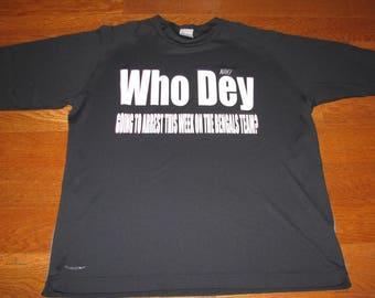 """Men's """"Who Dey"""" Bengals shirt"""