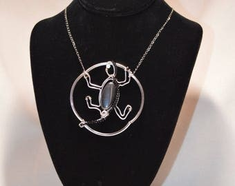 One of a kind Lizard necklace