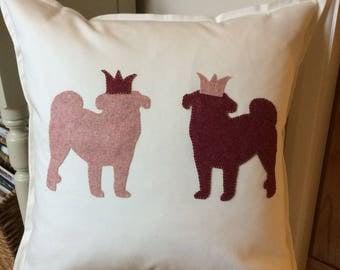 Perfect Pink Pug Princess Cushion