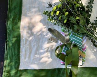 Green Been 100% PURE Linen Tablecloths