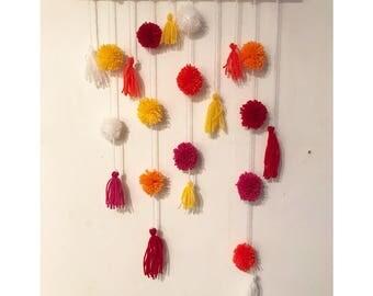 Tassle & Pom hanging