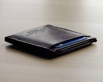 Minimalist wallet, Leather card holder, Purse, Leather, Wallet, Personalised leather, Leather gift