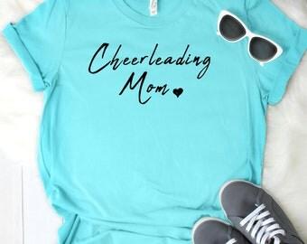 Cheerleading Mom Women's T Shirt UNISEX Bella Canvas Soft Style Motherhood #momlife ladies shirt mom life sports mom