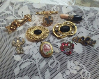 Some Vintage Some Newer Brooches