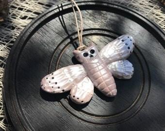 Polymer Clay Snow Deaths Head Moth