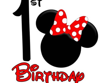 Minnie Mouse Birthday (Age 1)