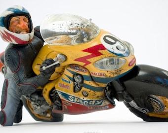 Forchino speedy motorcycle biker figurine statue