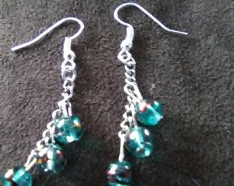 Dangle, cluster earrings