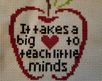 Teacher cross stitch