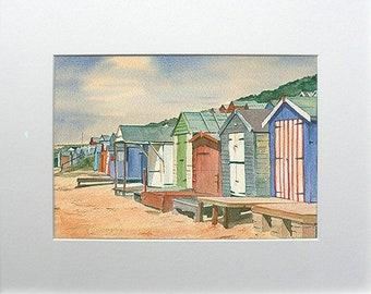 Beach Huts Hordle Beach