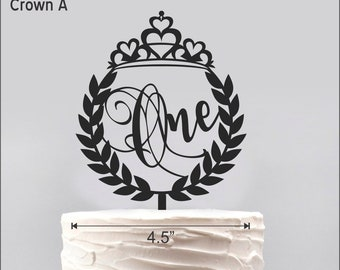 """Crown """"One"""" Cake topper"""