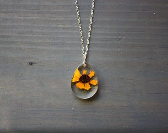 Yellow Wild flower necklace