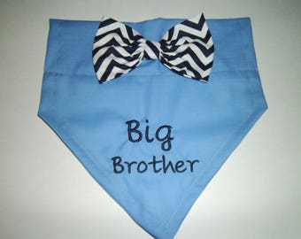 Dog Bandana, Big Brother, Gender Reveal, Pregnancy Reveal, Baby Announcement, New Baby, Photo Shoot, Bow, Dog Lover Gift,  Baby Shower gift