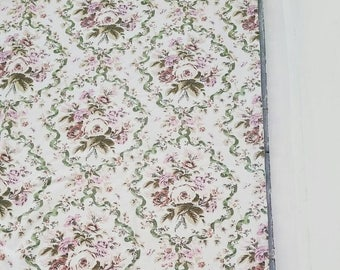 "Large lined floral curtains. Heavy floral cotton curtains. Pair of vintage floral curtains. 45 x 45""."