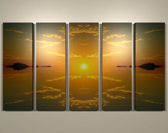 Sunrise Reflection Multi-panel Print