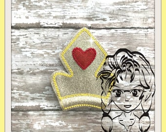 CRoWN BeAST PRiNCESS HeART Center (Add On~ 1 Pc) Mr Ms Mouse Ears Headband ~ In the Hoop ~ Downloadable DiGiTaL Machine Emb Design by Carrie