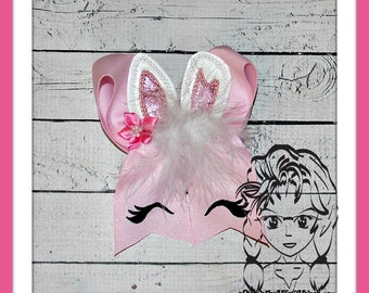 BUNNY Easter Feltie 3 sizes add on for BOWS ~ In The Hoop ~ Downloadable DiGiTaL Machine Emb Design by Carrie