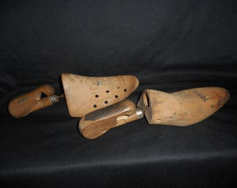 Antique Tyrol Wooden Shoe Stretchers Pair  Made In Germany