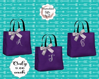 7 Personalized Bridesmaid Gift Tote Bag Monogrammed Tote, Bridesmaids Tote, Personalized Tote, Sorority Gifts Tote, Big Little Sister