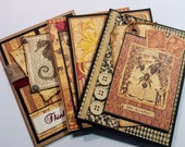 Graphic 45 Botanica Bella Greeting Card Set - Vintage and Shabby - FREE SHIPPING