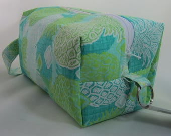 Aqua Pineapples Box Bag