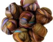 Acorn battlings -- mini batts (2 oz.) organic polwarth wool, bamboo, silk, sparkle.