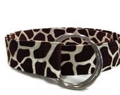 Women's Giraffe Print Fabric Belt