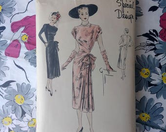 Vintage 1940s Pattern Vogue Special Design pattern S4797 Sz S