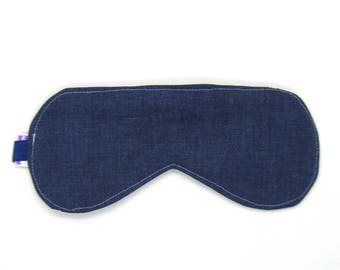 Sleeping Eye Mask / Night Eye Mask / Travel Eye Mask / Sleep Mask - Indigo Blue Twill