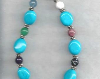 Turquoise and Assorted Gemstone Bracelet