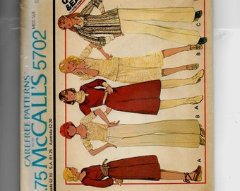 McCall's Misses' Dress or Top and Skirt for Stretch Knits Only Pattern 5702
