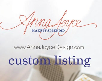 Custom Listing RESERVED for Rachel