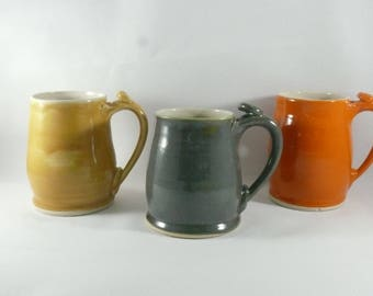 Ceramic Pottery Mugs, Teacups, Latte Mugs, Beer Mugs, Gift for Him, Anniversary Gift, Ceramics and PotteryUnique Coffee Mugs,